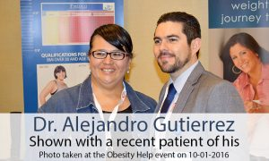 Dr. Alejandro Gutierrez with recent patient, Mexico Bariatric Center