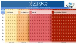 Mexico Bariatric Center BMI chart, BMI related risks