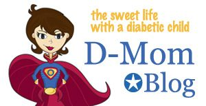 D-Mom Blog Logo, diabetes support