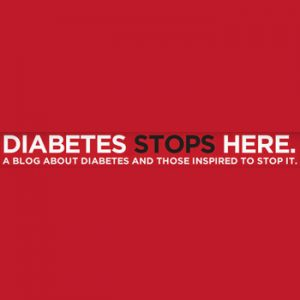 Diabetes Stops Here logo, diabetes support
