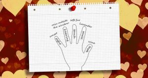 grounding exercises, tracing your hand and listing senses