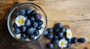 World Diabetes Day. Food for diabetes, blueberries.