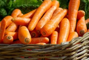 World Diabetes Day. Food for diabetes, carrots.