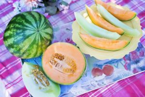 World Diabetes Day. Food for diabetes, melons.
