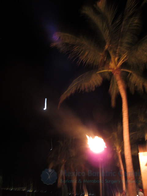 Fire At Night in Nuevo Vallarta